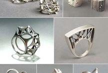 Joyería 3d - 3d printing jewelry / Joyería hecha con programas informáticos y diseño en 3D