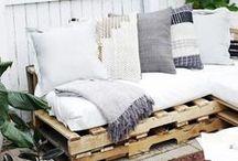 Meubles en palette / Le bois de palette, un matériau génial à customiser pour créer des meubles pour la maison ou le jardin
