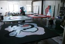 Artistas en su estudio