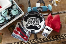 Little Man Mustache Party / Give your little man a birthday party as unique as he is with our Little Man Mustache theme. Make sure to check out our great LMM birthday ideas! / by Birthday Express