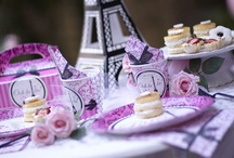 Paris Damask Party Ideas / There's nothing quite as beautiful as the Paris skyline. Bring the beauty of France to your daughter's birthday with a pink and black themed Paris Damask Party!
