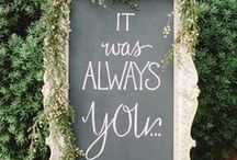 Wedding Signs & Quotes / Add a wedding sign to your special day to add a romantic touch. Being deeply loved by someone gives you strength, while loving someone deeply gives you courage.