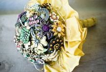 Brooch Bouquet Ideas and Instructions / I fell in love with brooch bouquets, but having someone make them is too expensive. I had a large collection of vintage and newer pins and that was the beginning. Will post a photo of the finished product! / by Christine Clark Zook
