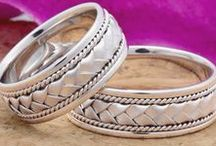 Hand-Braided, Paisely Bands / An intricate hand braided wedding band WeddingsRingsDepot.com