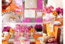 Hochzeit Orange Pink   Wedding Orange Pink / Hochzeitsinspiration in orange pink   Wedding inspiration in orange pink   Heiraten im Sommer