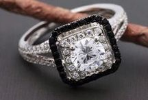 Black & White Wedding Rings / A classic black & white event calls for a one of a kind ring.