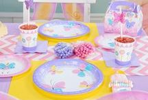 Butterfly Party Ideas / Use your imagination... a flower garden where delicate butterflies turn into magical fairies! Lots of swirls, flowers, and wings with soft and lacy playfulness.