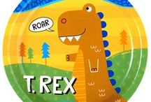 T-Rex Party Ideas / ROAR! This cute T-Rex and his friends want to join your party! They're bright, colorful, and very friendly dinosaurs :)