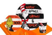 Dr. Seuss Halloween Party / Happy Howls, Growls, & Yowls! The Cat in the Hat and the Grinch are in costume and ready to join your guests for a spooky celebration. BOO!