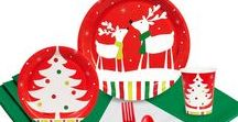 Reindeer Christmas Party Ideas / It's a reindeer Christmas party! Festive characters in a winter scene evoke feelings of warmth during this holiday season - great party supplies to make your party sparkle!