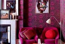 For Radha / Inspiration for my friends condo. she's looking to redecorate her living room (dark green/pink) and bedroom (olive green/gold)