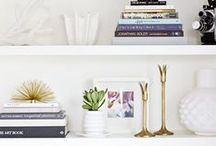 Bookshelf Styling / Ideas to stage and style your bookshelves  / by Luci Terhune/NJHomeStager
