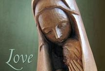 """Mary, Our Mother / """"Let us run to Mary, and, as her little children, cast ourselves into her arms with a perfect confidence."""" St. Francis de Sales"""