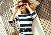Styled Stripes / Outfit and wardrobe inspiration for styling stripes, aka how to look good while wearing this often unflattering pattern.