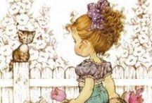 Sarah Kay, Precious Moments and Holly Hobbie / by Daniela: a bit of everything
