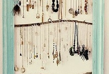 Jewelry display ideas / by Vanessa Evigan