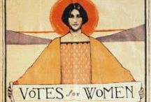 Woman's Suffrage Movement / Images about the Woman's Suffrage Movement (1848 - 1920) and the 19th Amendment which granted women in the U.S. the right to vote on Aug. 26, 1920. / by Mary Harrell-Sesniak