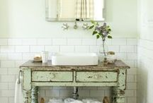 Bathroom design ideas / I enjoy fresh, cottage style with rustic and reclaimed elements.