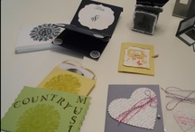 A Wedding Theme - favors / My wedding business handcrafted wedding favors. tea, cd holders, postcard recipe holder, mini album