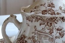 Brown Transferware... / also Black transferware / by Fiona Bowtrycle