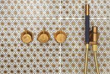 Salle de bain / Bubble baths // gold taps // homemade soap // tiles