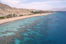 Eilat, Israel / Eilat (אילת) is Israel's southernmost city, a busy port as well as a popular resort, located at the northern tip of the Red Sea, on the Gulf of Aqaba. Home to 46,600 people, the city is part of the Southern Negev Desert, at the southern end of the Arava. Eilat averages 360 sunny days a year. The city's beaches, nightlife and desert landscapes make it a popular destination for domestic and international tourism. ~Wikipedia