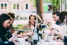 Dinner Party / indoors, outdoors, before dark or after