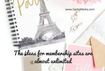 Membership Sites for Bloggers / Membership sites for bloggers to increase their earning capability / by Sarah Arrow