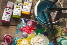 Acrylic Paint / Acrylic Paint is made of pigment suspended in an acrylic polymer emulsion. They are faster drying than oils, and are more easily manipulated with the use of a wide variety of mediums available for acrylic painting technique.