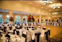Brookside Stateroom - Weddings / The Brookside Stateroom offers features amazing floor-to-ceiling windows that frame spectacular views of rolling green fairways, the pond with its picturesque fountain, and the meticulously landscaped grounds and waterfalls.