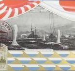 ( Sea ) Russo-Japanese War Art ( Russia Japan War ) / Vintage Japanese military navy postcards , battle of Tsushima , admiral Togo Heihachiro , Port Arthur , Russian army , Russian Navy