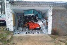 Painted Garage Doors / Cleverly painted garage doors. / by Lisa Saline