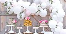 Girl's Baby Shower Ideas / Girl baby shower ideas for your special day!  Baby shower dessert tables and decorations for your special day!  Lots of pink tableware as well as floral tableware and pastel decor!