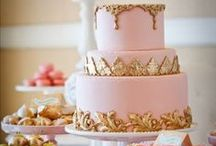 Pink and Gold Party Inspiration / Pink and Gold Party inspiration for first birthdays, girl birthday parties, baby showers, princess parties and ballerina parties.  Also gold and pink party supplies and decorations.