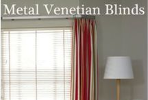 Venetian Blinds / Venetian blinds are enjoying a revival and are available in every colour imaginable and in every texture from metal, natural products and wood weave to painted wood finishes.  With Venetian Blinds you have the ultimate control over light and glare - minute adjustments as the day goes on enable you to have maximum light and visibility without discomfort.