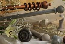 Wooden Curtain Poles / Wooden curtain poles can be used for either tradtional or modern interiors, with combination metal and wood being used for a stylish contemporary decor.