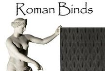 Roman Blinds / Roman blinds offer the more luxurious look of curtains while also offering the more minimal finish of a blind. The blind when open stacks to the top of the window and when closed completely covers the window enabling the blind fabric to be displayed as a flat panel.