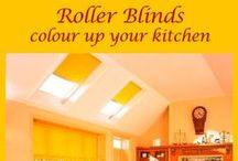 Roller Blinds / Roller blinds are available in a multitude of colours, special properties and optional finishes. They are one of the most popular types of window coverings, being very economical and easy to fit. This makes them the perfect choice for someone who likes to be On Trend with their decor colours.