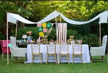 Garden Party Ideas / Garden Party ideas for a fabulous spring or summer party!  Lots of floral decorations, diys, spring tableware and party supplies!