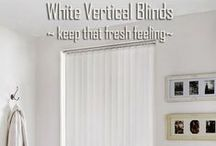 Vertical Blinds / Vertical blinds are just as perfect for large patio doors as tiny bathroom windows. They stack tightly to the side of the window, allowing for maximum light as well as good control of the temperature in the room. They also can be used as great room dividers.