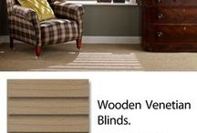 Wooden Blinds / Enjoy the beauty and warmth of wood by introducing a wooden blind into a room. They are ideal for controlling the light levels whilst also insuring the privacy of your home. Depending on the colour finish of the blind, you can establish the feeling of a relaxing Feng Shui decor, a casual Coastal theme or offer a modern alternative to curtains.