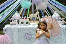 Carousel Party / Carousel Party ideas for whimsical girl birthdays!   Carousel Party decorations from Banners to cupcake toppers to carousel centerpieces!