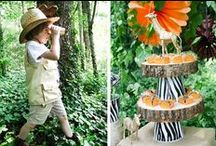 Jungle Safari / Safari party ideas for little kids parties!  Lost of animal print party supplies, and jungle decorations!  How to create the wildest jungle birthday party and everything you will need for your celebration!