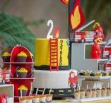 Fireman Birthday Ideas / Fireman Party Ideas and Party Supplies for your little firefighter!  Everything you need to throw the cutest fireman party!