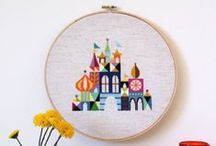 Needle and Thread / Sewing, stitching, threading, weaving... needle craft inspiration. Expect to find lots of cross-stitching, embroidery, and hoop-art ideas here.