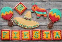 Mexican Fiesta Party Ideas / Fiesta party ideas and inspiration for a Birthday Party or a Cinco de Mayo Celebration including fiesta desserts, decorations, party foods and Fiesta Party Supplies. Go to viablossom.com for more ideas