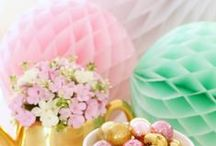 Honeycomb Decorations / Pretty paper honeycomb decorations.