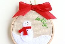 Christmas Hoop Art / Inspiration for hand-embroidered Christmas hoop art.