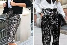 A Little Bit of Sparkle / Women's fashion, glitter and sequins