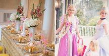 Princess Party Ideas / Princess Party Ideas and Princess Party Supplies including Cinderella Slippers, Cinderella Carriage and Princess Cupcake Toppers.  Also princess desserts and cakes and dessert table ideas!
